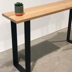 Flat steel Console table legs