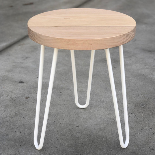 Hairpin legs custom stool