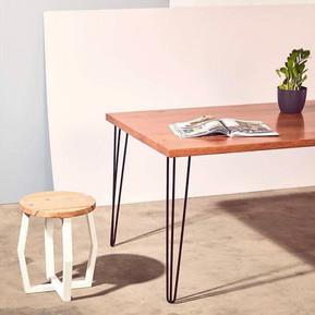 Hairpin Legs & custom stool