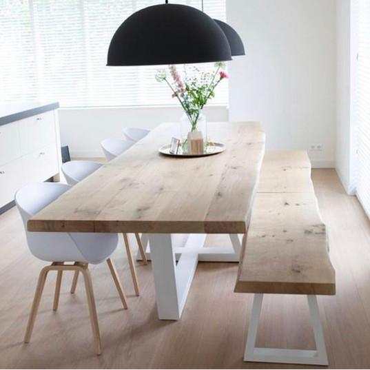 Custom dining table frame