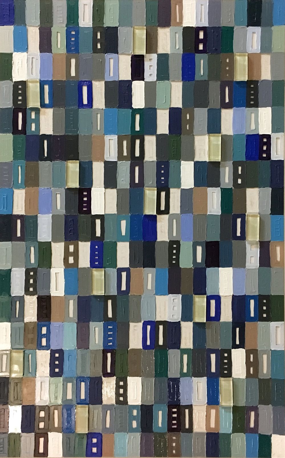 Acrylic and glass tiles, 32x20 inches $900.00
