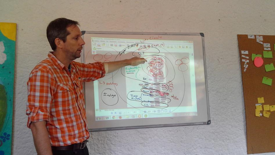 Allan Rhodes, Coaching de Holocracia en Cántaro Azul