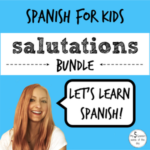 learn greetings and farewells in Spanish for kids