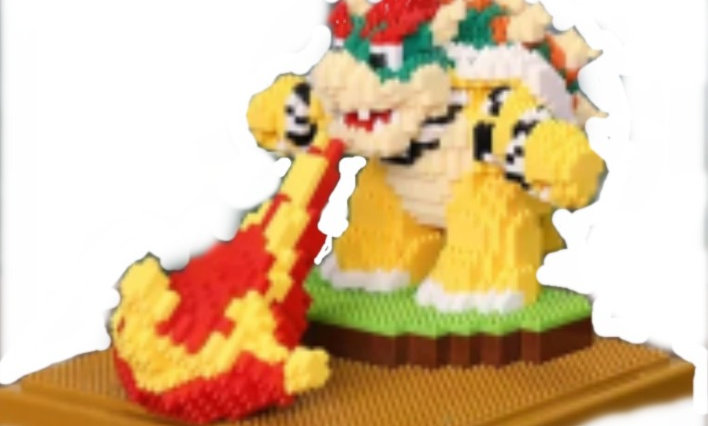 Figurine Bowser flamme