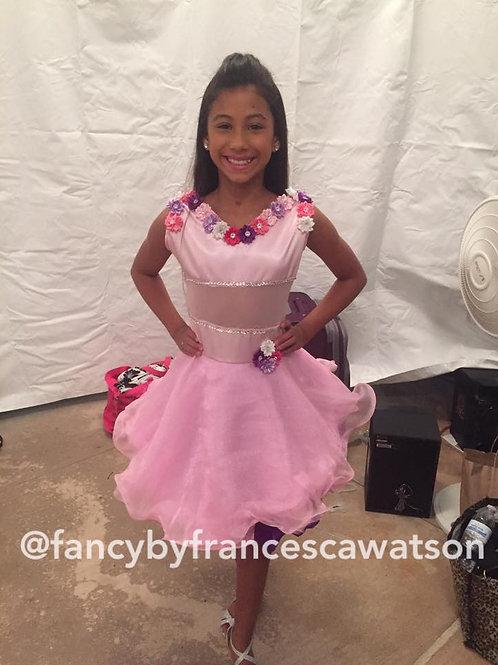 Floral pageant dress