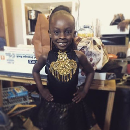 Black and gold kids dress