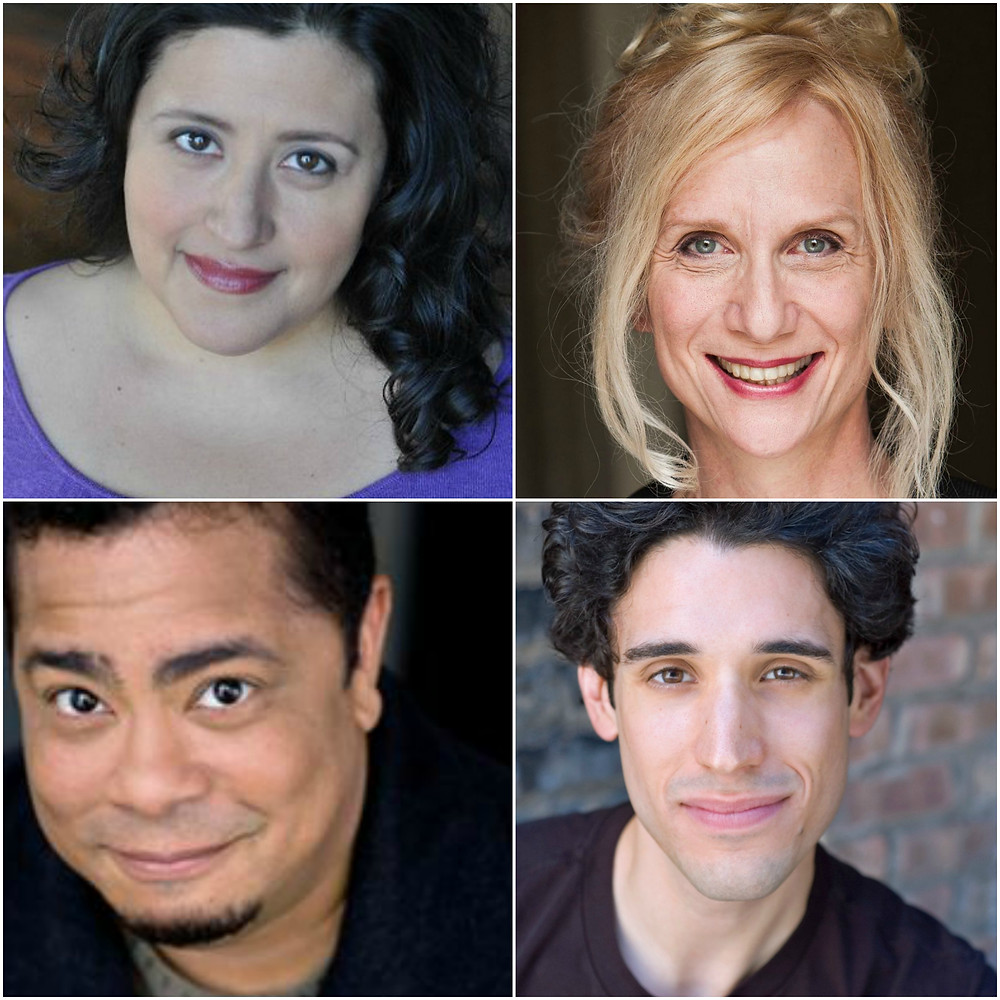 Cast of I am My Own Wife reading: Mari Marroquin, Delia Kropp, Linsey Falls, John Faflan