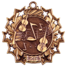 ORCHESTRA or BAND Ten Star Medals