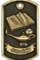 3D Dog Tag Medals - Academic