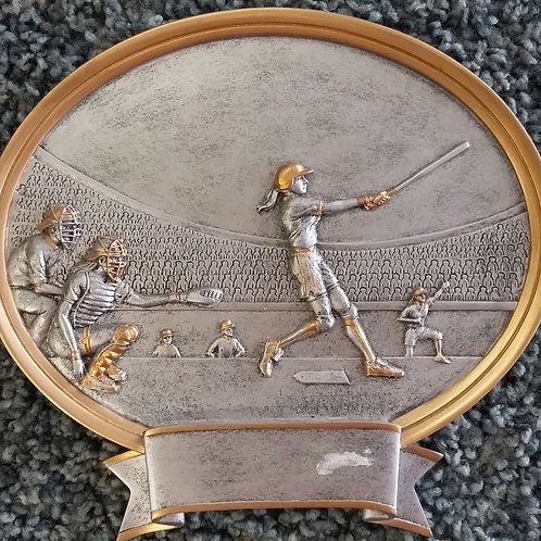 "6""  or 8"" Baseball/Softball Oval Resin Trophies"