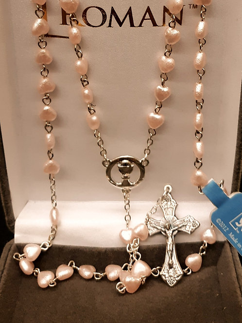 Pink Heart Rosary