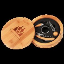 Round Bamboo 4 Piece Tool Set