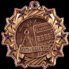 MUSIC, MATH or READING Ten Star Medals