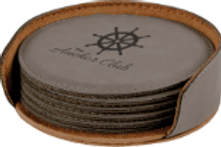 Set of 6 Coasters & Holder