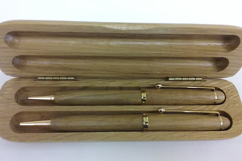 Oak Pen/Pencil Set
