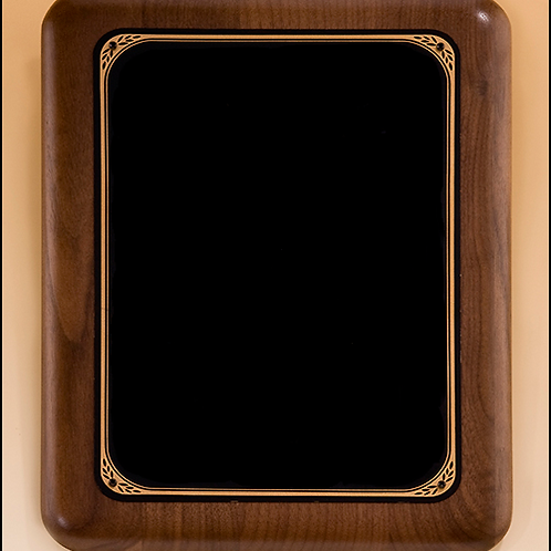 P1613 Walnut Plaque with Black Plate