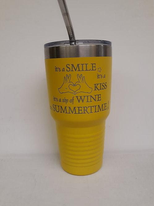 It's a Smile/Summertime 30 oz Tumbler