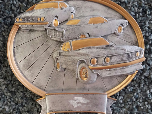 "8"" Car Show Oval Resin Trophies"