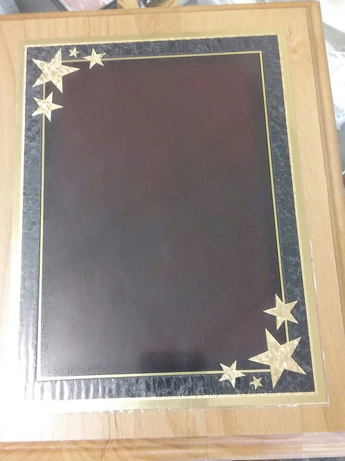HMPW2  Cherry Wood plaque/Patriotic Plate