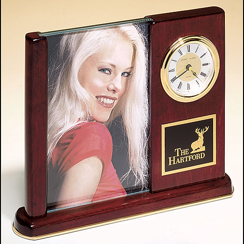 BC19 Rosewood Piano Finish Picture Clock