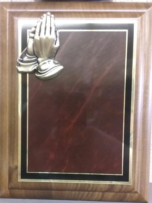 HMCW4 8x10 Cherry Board/Praying Hands
