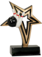 Star BOWLING trophy