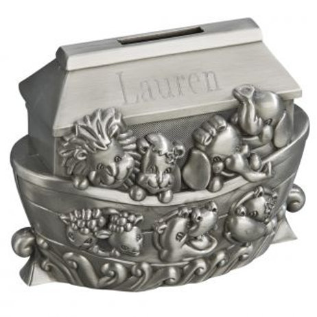 Noah's Ark Bank - Pewter Bank