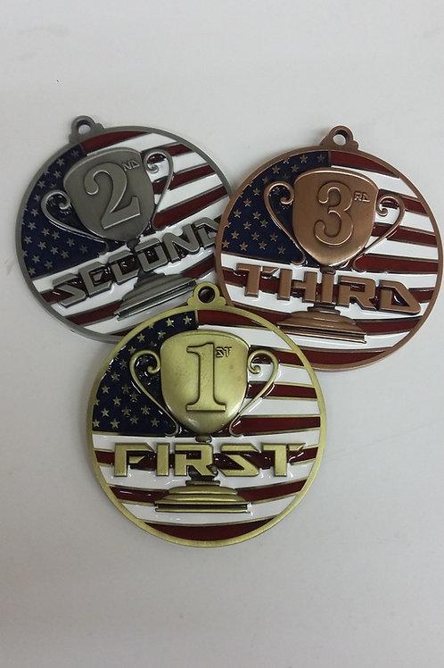 Patriotic Medallions 1, 2, 3rd