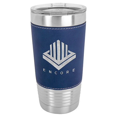 Leather wrapped double insulated tumbler
