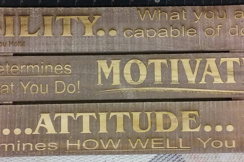 Motivation Raw Wood Plaque