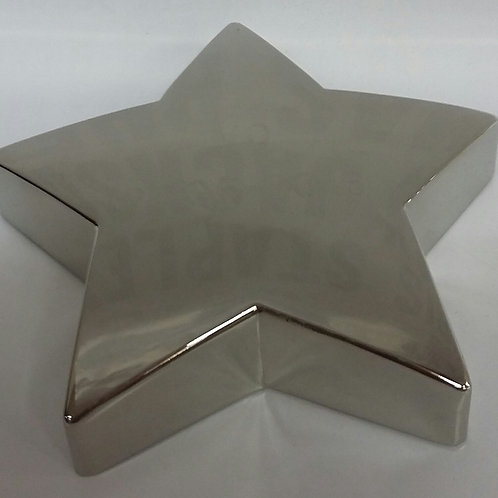 Star Paperweight: Silver plated/non-tarnish