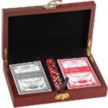 Rosewood Box: Card & Dice Set