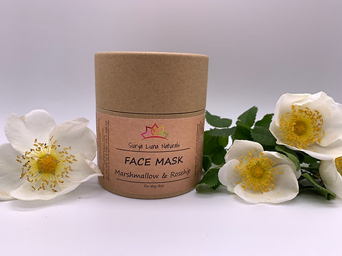 Dry Face Mask - Marshmallow and Rosehip