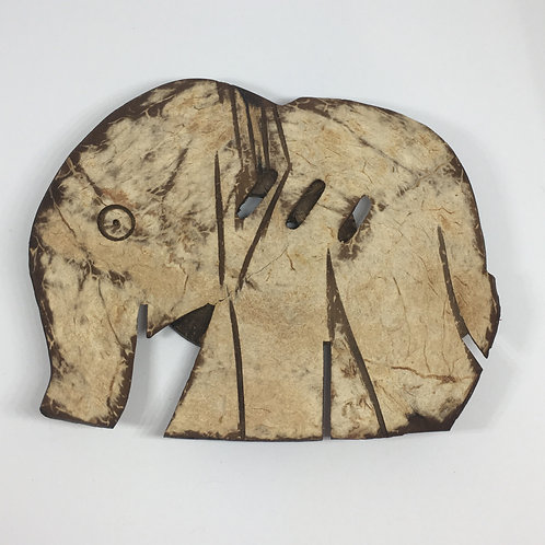 Elephant Coconut Shell Soap Dish