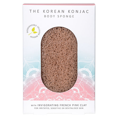 The Mandala Pink Clay Body Sponge