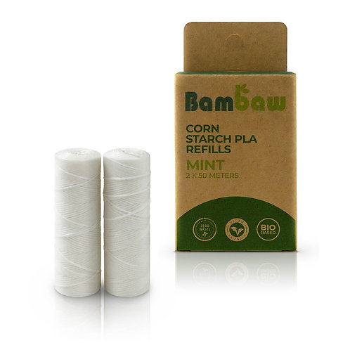 Bambaw Biodegradable Floss Refills - Peppermint