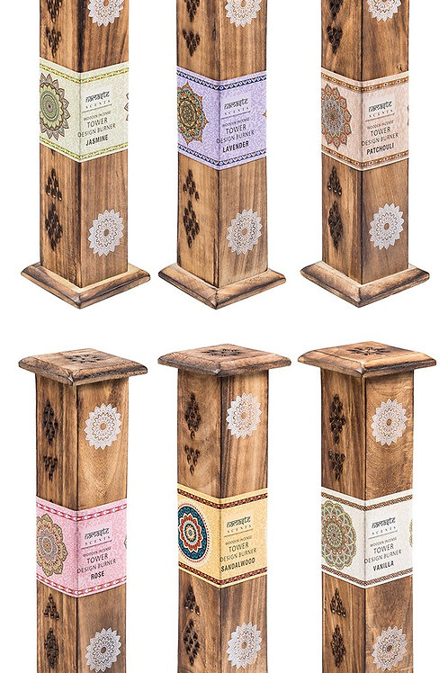 Mango Wood Incense Tower and Incense Sticks