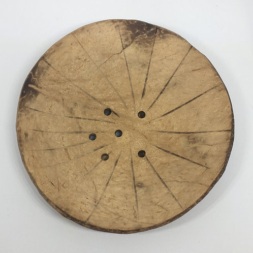 Round Coconut Shell Soap Dish