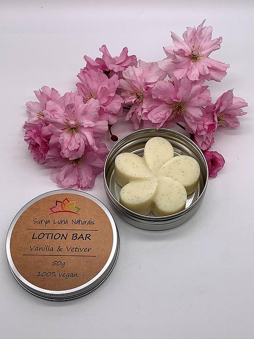 Vanilla and Vetiver Lotion Bar