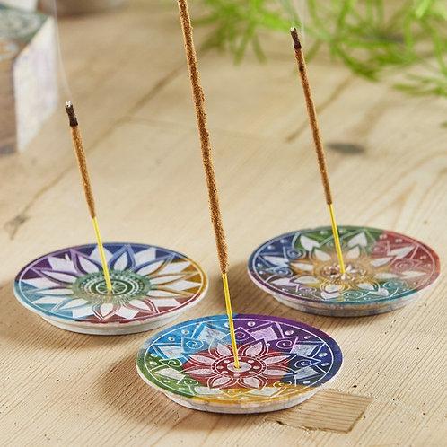 Multi Colour Chakra Incense Plate