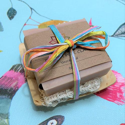 Soap, Soap Bag and Soap Dish Gift Set