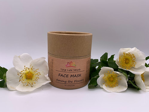 Dry Face Mask - Among The Flowers