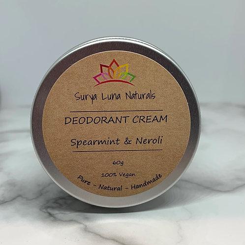 Spearmint and Neroli Deodorant Cream