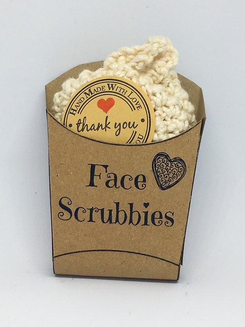 Unbleached, Organic Cotton Face Scrubbies