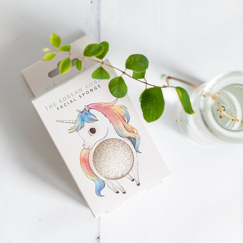 Mythical Prancing Unicorn Konjac Sponge and Hook Set