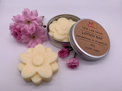 Cardamom and Grapefruit Lotion Bar