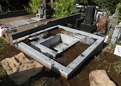 墓石建立1