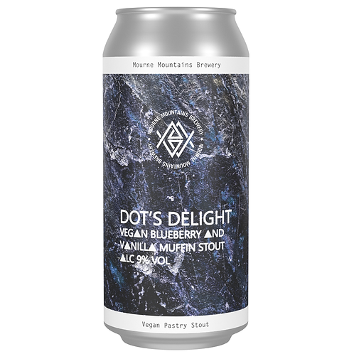 Dot's Delight Vegan Blueberry & Vanilla Muffin Stout 9% (12x440ml)