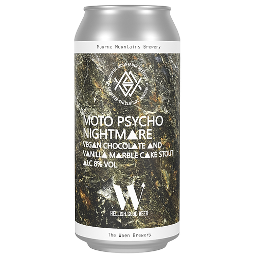 Moto Psycho Nightmare Vegan Chocolate & Vanilla Marble Cake Stout 8% (12x440ml)
