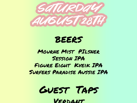 Taproom - Saturday August 28th 2pm-11pm